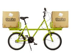 donky bike - a versatile load carrier by ben wilson: a simple versatile load carrier, the 'donky bike' by ben wilson is designed for urban living, offering an easy way to transport cargo around town.