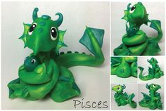 Pisces Dragon (fourth of 12 in series) by lizzarddesigns.deviantart.com on @deviantART