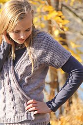 A seamless cardigan with swingy fronts and unusual construction, Silverado is the best kind of simple yet interesting knitting. The back and sleeves begin in the topdown raglan style, then as the sleeves are divided from the body, stitches are picked up along the front raglan seamlines for the fronts, which are shaped with increases and cables. Texture abounds in the reverse stockinette ground, ribbed sleeves and 3-dimensional wave cables, finished with a simple applied I-cord front and…