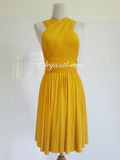 Golden Yellow Color infinity wrap dress is a very sexy and classy dress. Its sharp color yet carries out your charming and elegant look. And simply