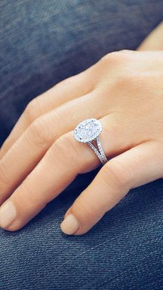 An Oval Halo Diamond Engagement Ring that will brighten up your day. By Ascot Diamonds #ascotdiamonds
