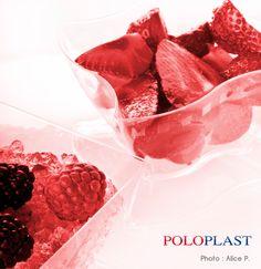 Coppa Elika con fragole / Cup Elika with Strawberrys http://www.poloplast.it/it/linee/COPPA-ELIKA.html?t=1