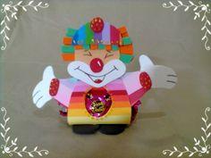 Porta Bombom em EVA para lembrancinha de aniversário infantil  O circo Pedidos acima de 20 unidades R$ 3,80