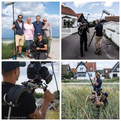 """So the sun has set after filming for food program on Nordic food and lifestyle """"Nordic Cookery"""" which is sent once in 2015 Chef Tareq Taylor, designer Ilse Jacobsen, employees of Ilse and VisitNordsjælland had all day to make this a great good program about Denmark, Hornbæk and not least the Danish Riviera. Riviera. #tareqtaylor #visitnordsjælland #kurbadet #hornbæk #nordiccookery #ilsejacobsen #bbc"""