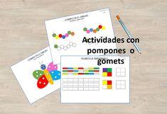 Actividades con pompones de colores (o gomets) - Aprendiendo con Julia