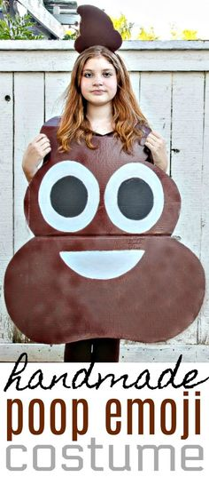 How to Make A Poop Emoji Costume For Kids - Easy DIY Halloween Costume #Halloween #Costume #DIYCostume