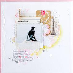 Kunst ist eine wunderbare Inspirationsquelle für Scrapbooking Layouts und Papierarbeiten im Allgemeinen. Die Farben, Formen, Materialien und Gefühle, die ein Werk an mich als Betrachterin vermittelt,