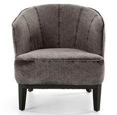 Butaca gris Vintage Arbat   Material: Madera de Abeto   Butaca tapizada con tela tejana de color gris 100 algodon, estructura y pies de madera abeto con relleno de espuma de poliuretano, no desenfundable... Eur:209 / $277.97