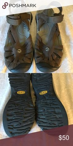 Keen Women's Sandals EUC. I only wore them one time (really). I was wondering why they were so loose.  They are an 8.5, I wear a 7.5 ugh.  I just threw them in my closet because I was going to give them to my MIL but never did. Keen Shoes Sandals