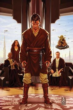 Yes, this is Caleb Dume from the comics. But the lack of good pics with young padawans pains me so much I decided to include this here. I haven't decided, however, which padawan from Obi-Wan's cohort he could be.