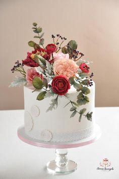Flower cake by Evgenia Vinokurova