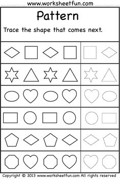 FREE AB Pattern/ 1 2 Pattern worksheet | Fun ideas/ Parenting ...