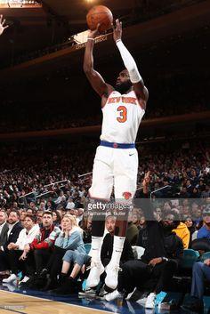 News Photo : Tim Hardaway Jr. #3 of the New York Knicks shoots...