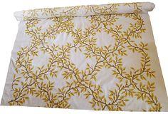 Adeeni Design Group: custom-designe hand-embroidered crewel fabric