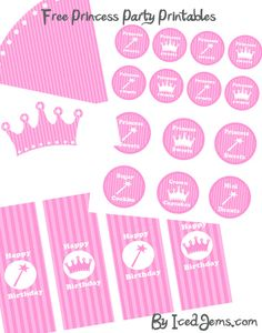 5 Best Images of Princess Birthday Party Free Printables - Princess Party Printables Free, Free Printable Princess Cupcake Toppers and Disney Princess Birthday Printables Free Princess Birthday Cupcakes, Pink Princess Party, Tangled Birthday Party, 3rd Birthday Parties, Girl Parties, Princess Theme, Birthday Ideas, Princess Party Decorations, Party Themes