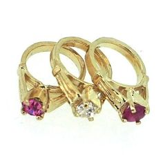 14k Yellow Gold Birthstone Ring Small Charm for Necklace Mom Mother Grandma NEW | Jewelry & Watches, Fine Jewelry, Fine Charms & Charm Bracelets | eBay!