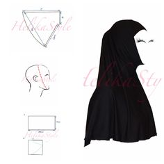 This is very popular hijab type. Very comfortable for young muslimah or for active sisters. We will sew now al-Amira hijab - 2 pie. Muslim Fashion, Hijab Fashion, Modest Fashion, Clothing Patterns, Dress Patterns, Sewing Patterns, Al Amira, Abaya Pattern, Instant Hijab