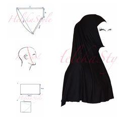 How to sew al-Amira hijab. Base pattern. Detailed instructions. :: HelikaStyle