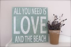 Wall Art Custom Wood Sign Beach Sign Beach Quote Quote by InMind4U, $51.00