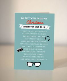 Hipster Christmas card - funny Christmas card for a hipster