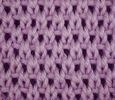 Knitting Galore: Saturday Stitch: Eyelet Moss Stitch.