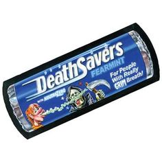 Death Savers: Topps Wacky Packages Wall from WALLS 360. http://www.walls360.com/wackypackages Graphics