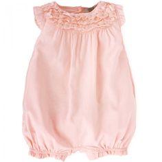 Armani Junior Pink Flower Romper  #Babypink #Armani #Romper