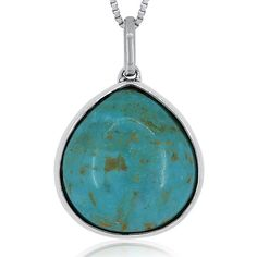 Simulated Turquoise Reversible Sterling Silver Pendant Necklace ($225) ❤ liked on Polyvore featuring jewelry, necklaces, turquoise necklace pendant, long necklace pendant, long turquoise necklace, pendant necklace and sterling silver turquoise necklace