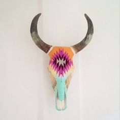 Brittney Borjeson has 2 locations in Sayulita. Evoke is across the street from Petit Hotel Hafa on Calle Jose Mariscal. Spirit is next to Wakika Ice Cream on Calle Marlín. Check out the breathtaking Huichol yarn-covered cow skulls. Bull Skulls, Deer Skulls, Animal Skulls, Deer Horns, Cow Skull Art, Painted Cow Skulls, Boho, Antler Art, Antler Crafts