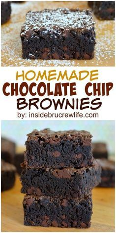 These homemade dark chocolate brownies will satisfy those chocolate cravings