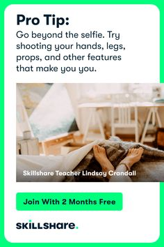 Sign up for 2 free months of Skillshare Premium and get access to thousands of classes on photography, illustration, design, and more! Learn Photography Online, Photography Tips, Travel Photography, Photography Challenge, Photography Projects, Newborn Photography, Kahlo Paintings, Beach Hacks, Keto Diet Plan
