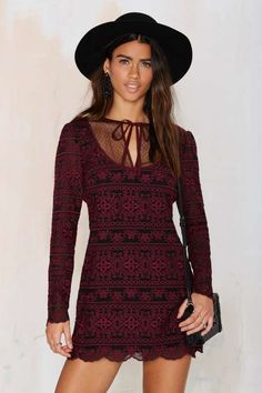 Nasty Gal Love Her Madly Embroidered Dress - Sale