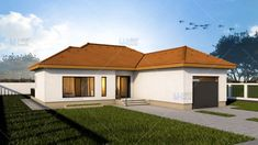 Proiecte de case mici, sub 120 de mp - acelasi design traditional, cu note de modernism