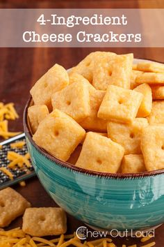 These Cheese Crackers (aka Cheez-its) are super cheesy, ultra crispy and flaky, and uses only 4 good ingredients. Healthy snack recipes are delish!