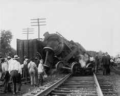 Train Derailment 1922 Vintage 8x10 Reprint Of Old Photo