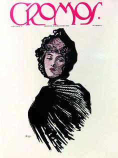 Portada # 1  Enero 15 de 1916  Coriolano Leudo ilustró la portada del primer número de la revista CROMOS con la imagen de su esposa.Fue Director de la Escuela de Bellas Artes de Bogotá, fundó el Museo Nacional de Bogotá.