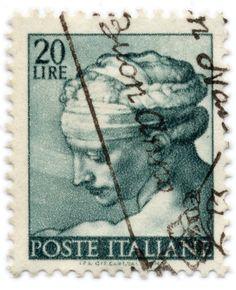 20 Lira vintage Italian postage stamp
