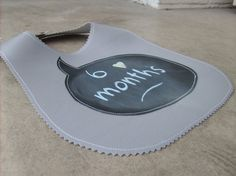 chalk cloth baby bib