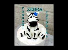 DIY- How to make a fondant zebra topper- Tutorial - YouTube