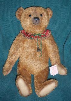 Isaac ~ OAK Mohair Holiday Bear by Sharon Barron of Barron Bears ~ 23 inches #Christmas