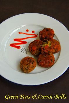 Green Peas and Carrot Balls
