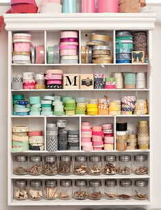 When I get my shelf back from the shop, it will be great for all the small things like stamps, washi tape, ribbon....
