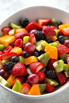 How to Make Fruit Salad - Life Made Simple Bakes - - Learn how to make fruit salad the right way! This fresh, vibrant side dish is a spring and summer staple and can be prepped in under 15 minutes. Best Fruit Salad, Dressing For Fruit Salad, Summer Salads With Fruit, Fruit Salad Recipes, Fruit Salads, Fruit Fruit, Jello Salads, Summer Snacks, Healthy Summer