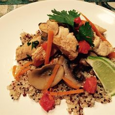 "Thai Chicken Quinoa and Veggie Delight | ""I added fish sauce and reduced the amount of salt."