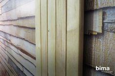 Dimensión y textura: combina este papel tapiz de madera con tablillas reales para lograr un efecto genial. #BimaTips