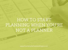 If you're going to plan one thing for your business, start with this. It's almost too simple, but it makes a difference.