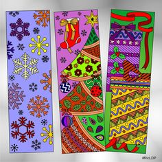 * Instant digital download ** No physical product will be sent.  Details: One pdf file and 9 separate jpegs Each bookmark dimension - 2.0 x 6.5 inches plus three (3) complimentary Christmas coloring bookmarks High quality at 300 dpi resolution Print compatible to 8.5 x 11 inches paper sizes.  Non-commercial use. For personal use only. You may print as many as you want but please do not sell or distribute in digital or printed formats. Thank you so much