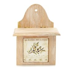 Attractive wooden storage box with a provencal twist