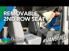 We decided to install a bench seat in our Ford Transit so we could carry extra passengers if we needed to. They are removable so we won't lose the floor space when we need it. Diy Camper, Camper Van, Vauxhall Vivaro Camper, Van Home, Truck Camping, Class B, Sprinter Van, Ford Transit, Bench Seat