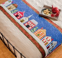 """""""Home For Christmas"""" Bed Runner from the book by Martingale - Christmas Is Coming (Print version + eBook bundle)"""